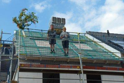 Das Dach mit dem Richtfest