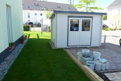 Gartenhaus ist auch fertig